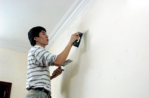 Kết quả hình ảnh cho kỹ thuật xử lý tường sơn nhà cũ
